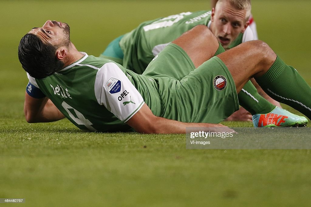 Graziano Pelle of Feyenoord Lex Immers of Feyenoord during the Dutch cup match between Ajax Amsterdam and Feyenoord at Amsterdam Arena on January 22...