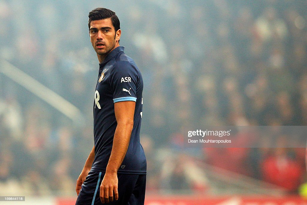 Graziano Pelle of Feyenoord looks on during the Eredivisie match between Ajax Amsterdam and Feyenoord Rotterdam at Amsterdam Arena on January 20, 2013 in Amsterdam, Netherlands.