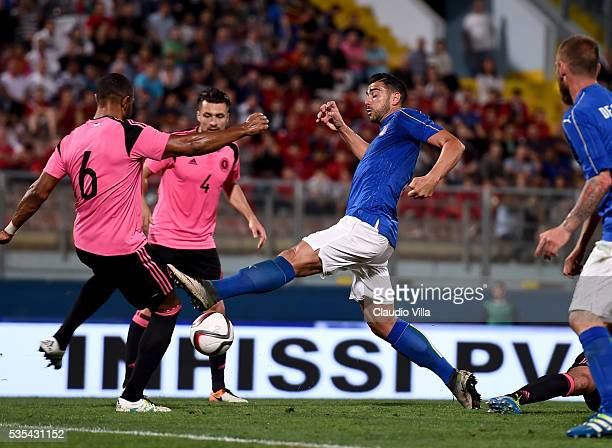 Graziano Pelle of Italy in action during the international friendly between Italy and Scotland on May 29 2016 in Malta Malta