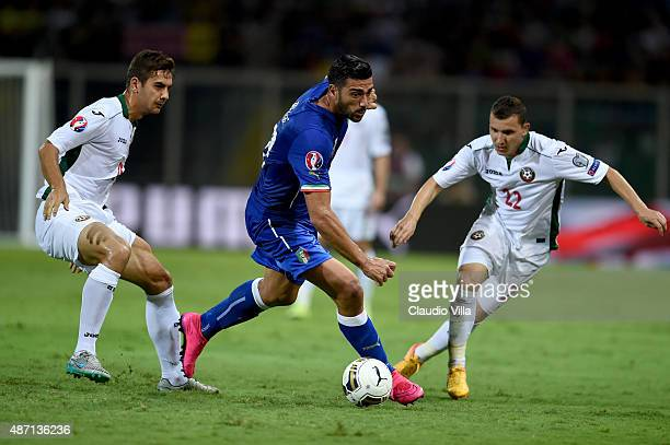 Graziano Pelle of Italy in action during the UEFA EURO 2016 Qualifier match between Italy and Bulgaria on September 6 2015 in Palermo Italy