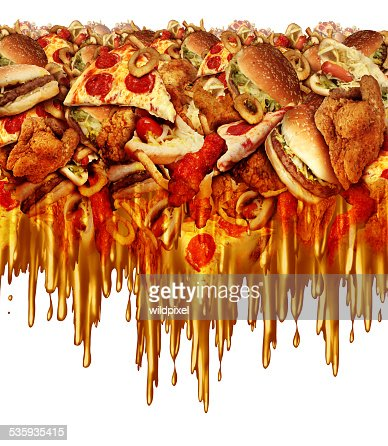 Greasy Fast Food : Stock Photo