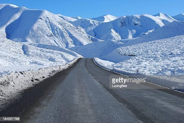 Great Alpine Highway Snowscene, NZ
