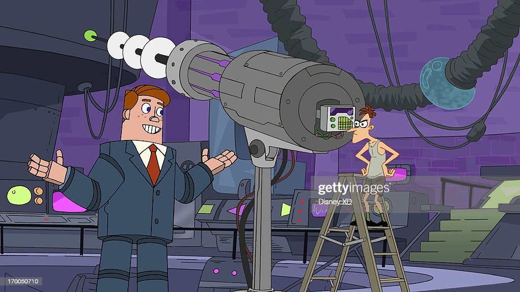 FERB - 'Great Balls of Water' - When Candace thinks Jeremy is bored with their usual hangouts, she sets out to find something unique to do with him. Meanwhile, Phineas and Ferb power through town surfing on a giant ball of water and Doofenshmirtz plans to use his Double-Negative-Inator to confuse his local eatery into giving him a wintery drink that is usually not served during summer. This episode of 'Phineas and Ferb' premieres Friday, June 7 (9:00 PM - 9:30 PM ET/PT) on Disney XD. NORM, DR. DOOFENSHMIRTZ