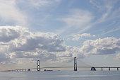 Photo of the Great Belt Suspension Bridge in Denmark