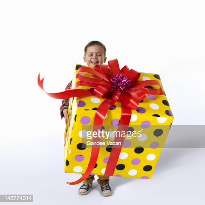 Great Big Gift on white : Stock Photo