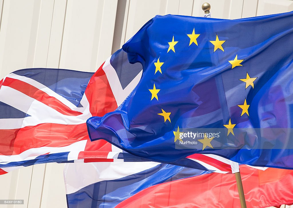 Great Britain and European Union split on the wind in Warsaw, 27 June, 2016, Poland