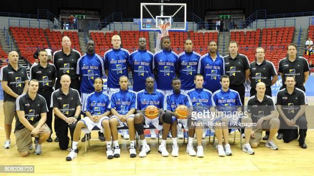 Great Britain basketball players Pops MensahBonsu Dan Clark Eric Boateng Matthew BryanAmaning Kieron Achara Andrew Sullivan Justin Robinson Devan...