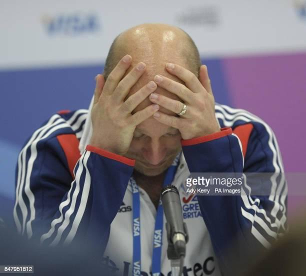 Great Britain coach Danny Kerry during the Visa International Invitational Hockey Tournament at the Riverbank Arena London
