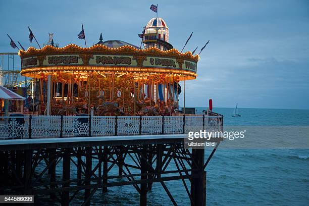 Great Britain England Brighton old carrousel on the pier 'Brighton Pier'