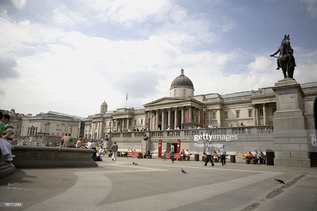 Great Britain, London, Trafalgar Square, National Gallery