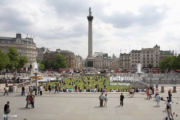 Great Britain, London, Trafalgar Square with Nelson's Column