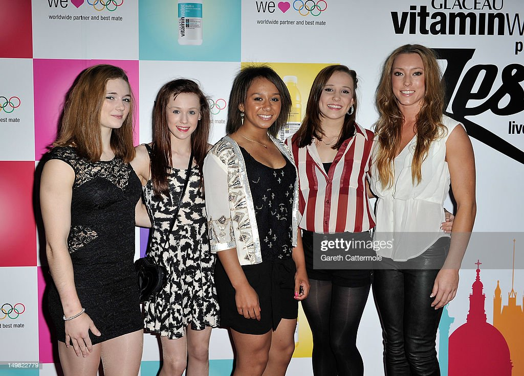 Great Britain Olympic athletes Jennifer Pinches, Rebecca Tunney, <a gi-track='captionPersonalityLinkClicked' href=/galleries/search?phrase=Zoe+Smith+-+Weightlifter&family=editorial&specificpeople=2207294 ng-click='$event.stopPropagation()'>Zoe Smith</a>, Hannah Whelan and Imogen Cairns attend Glaceau vitaminwater presents '<a gi-track='captionPersonalityLinkClicked' href=/galleries/search?phrase=Jessie+J&family=editorial&specificpeople=5737661 ng-click='$event.stopPropagation()'>Jessie J</a> Live In London' at The Roundhouse on August 4, 2012 in London, England.
