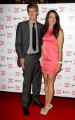 Great Britain Olympic gold medal cyclist Danielle 'Dani' King and Matt Rowe attend an olympic celebration dinner hosted by Naomi Campbell in...