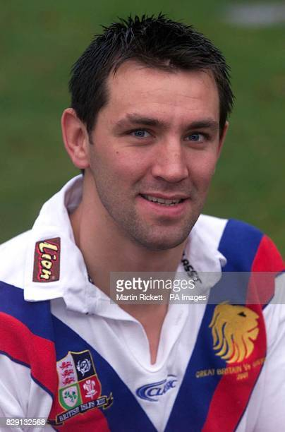 Great Britain Rugby League squad player Paul Sculthorpe during a photo call at the Marriot Hotel Worsley Manchester Great Britain will be playing...