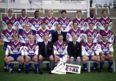 Great Britain rugby league team circa 1992 The team was captained by Garry Schofield and the coach was Mal Reilly Also featured is Shaun Edwards