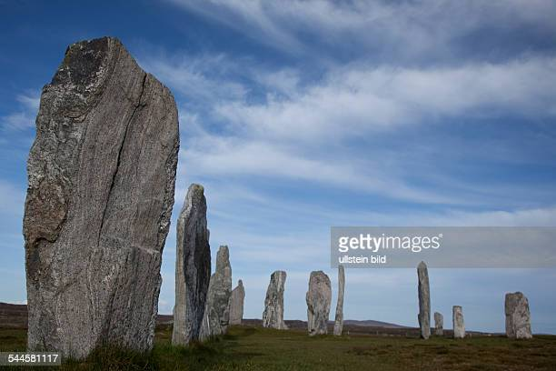 Great Britain Scotland Isle of Lewis Callanish crossshaped setting of standing stones