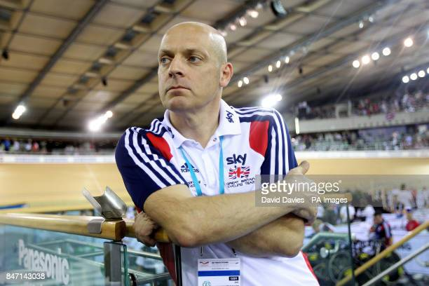 Great Britain Team Principle Dave Brailsford during day one the UCI Track Cycling World Cup at the Velodrome in the Olympic Park London