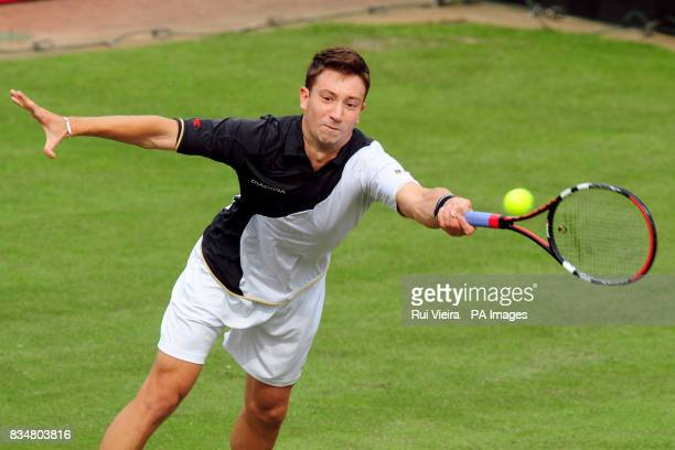 Great Britain's Alex Bogdanovic during his single match against Marin Cilic at the Slazenger Open 2008 at the City of Nottingham Tennis Centre...