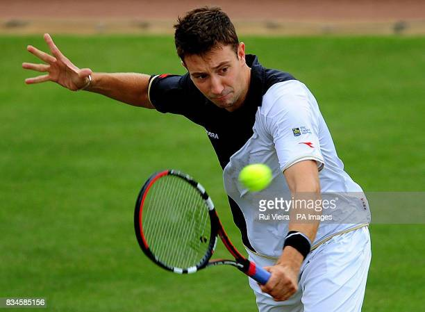 Great Britain's Alex Bogdanovic during his singles match against Marin Cilic at the Slazenger Open 2008 at the City of Nottingham Tennis Centre...
