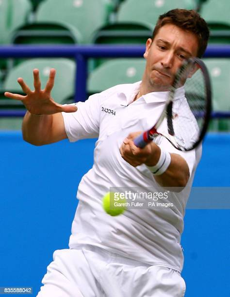 Great Britain's Alex Bogdanovic on his way to victory against Ivo Minar during the AEGON International at Devonshire Park Eastbourne