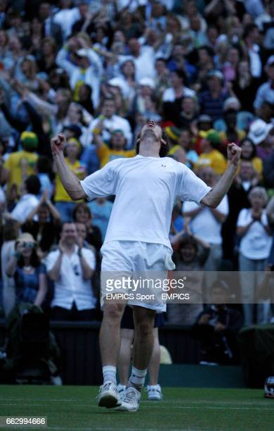 Great Britain's Andy Murray celebrates his victory over France's Richard Gasquet