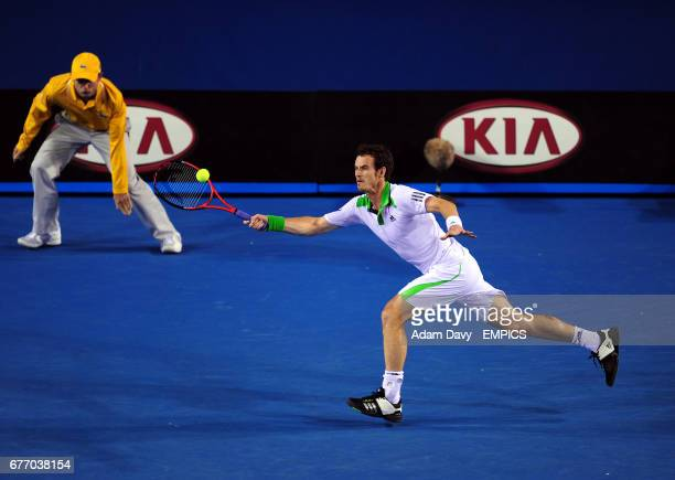 Great Britain's Andy Murray in action against Ukraine's Illya Marchenko