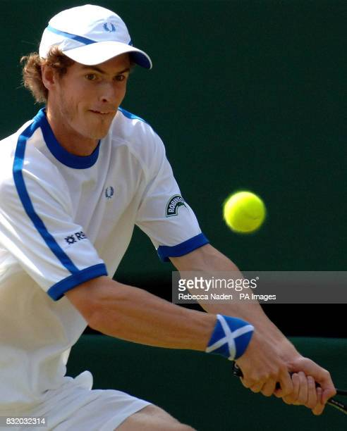 Great Britain's Andy Murray in action during the second round of The All England Lawn Tennis Championships at Wimbledon