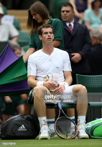 Great Britain's Andy Murray in his match against Belgium's David Goffin