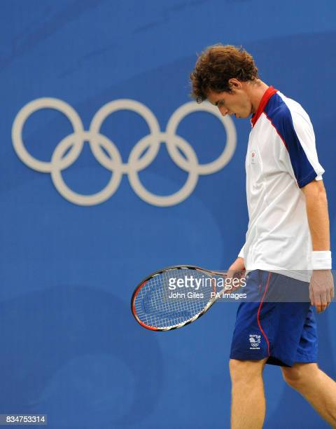 Great Britain's Andy Murray in his Singles Tournament in the 2008 Beijing Olympic Games in Beijing China