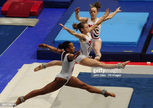 Great Britain's Becky Downie with team mates during a training session in Macau China