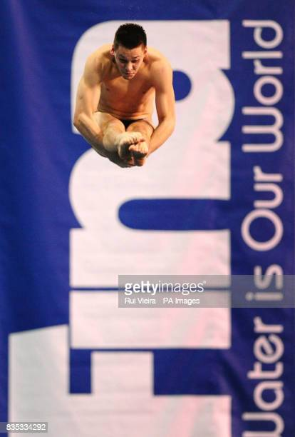 Great Britain's Ben Swain during the Men's 3m Semi Final during the FINA Diving World Series at Ponds Forge Sheffield