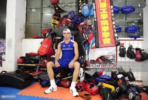Great Britain's Billy Joe Saunders at the Fighting Arts Club Macau China