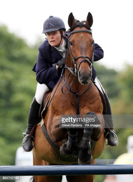 Great Britain's Caroline Webley rides Barrister QC in the Sky Sports Speed Stakes at Hickstead Sussex