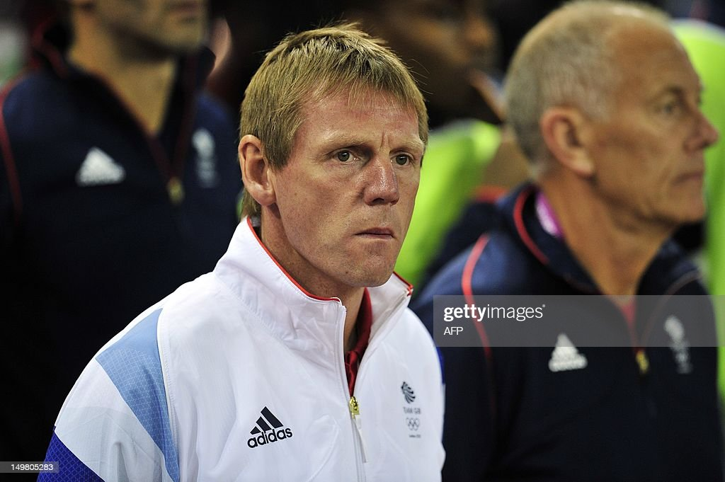 Great Britain's Coach Stuart Pearce pictured before the London 2012 Olympic Games men's quarter-final football match between Great Britain and South Korea at the Millennium Stadium in Cardiff, Wales, on August 4, 2012. AFP PHOTO / GLYN KIRK