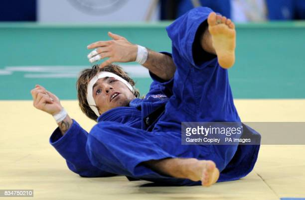Great Britain's Craig Fallon in action against North Korea's Kyong Jin Kimi during their first round match of the Men's 60kgs Judo at the USTB...