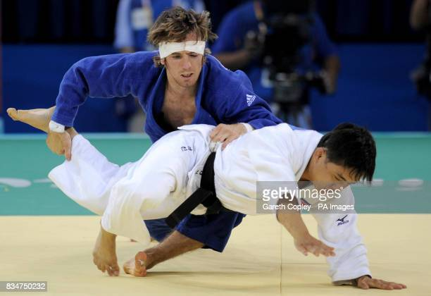Great Britain's Craig Fallon in action against North Korea's Kyong Jin Kim during their first round match of the Men's 60kgs Judo at the USTB...