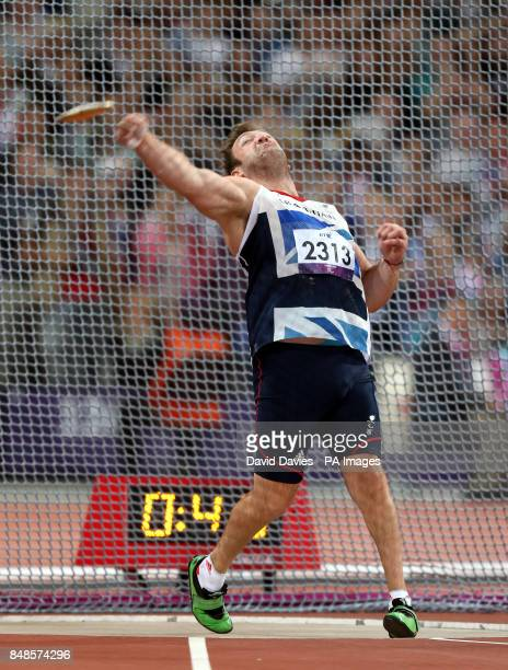 Great Britain's Dan Greaves during the Men's Discus during the Paralympic Games in London PRESS ASSOCIATION Photo Picture date Thursday September 6...