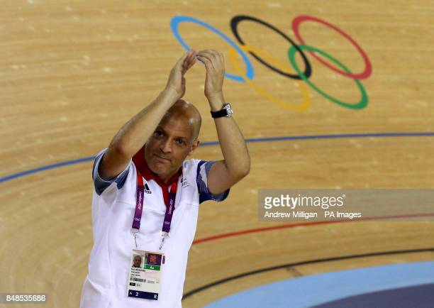 Great Britain's Dave Brailsford on day eleven of the Olympic Games at the Velodrome Olympic Park London