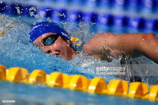 Great Britain's David Davies competes during the men's 800m freestyle qualifications on July 28 2009 at the FINA World Swimming Championships in Rome...