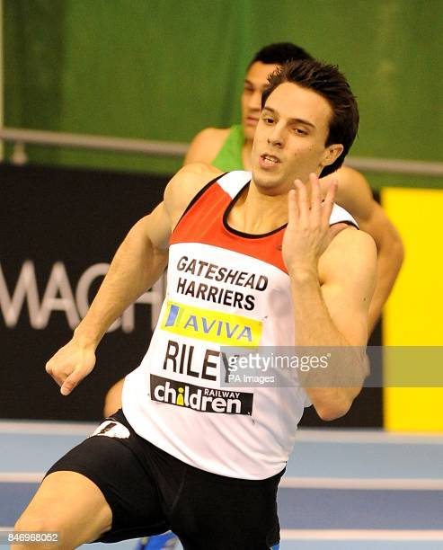 Great Britain's David Riley competes in the 400 metres Men's semifinal Heat 2