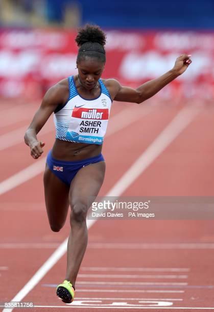 Great Britain's Dina AsherSmith in the Women's 100m Heat 1 during the Muller Grand Prix at the Alexandra Stadium Birmingham