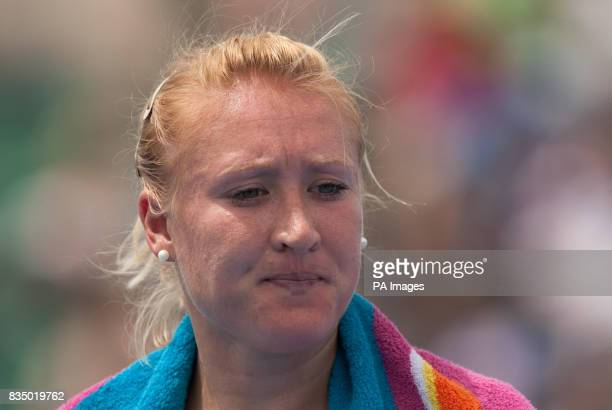 Great Britain's Elena Baltacha during her second round match against France's Amelie Mauresmo during the Australian Open 2009 at Melbourne Park...