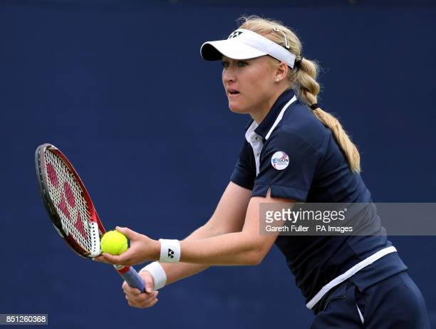 Great Britain's Elena Baltacha in action against Kristyna Pliskova during the AEGON International at Devonshire Park Eastbourne
