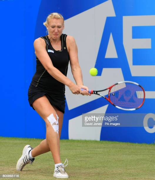 Great Britain's Elena Baltacha in action against Russia's Anastasia Pavlyuchenkova