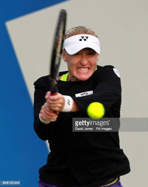 Great Britain's Elena Baltacha in action against Taipei's KaiChen Chang during day two of the AEGON Championships at Edgbaston Priory Club Birmingham