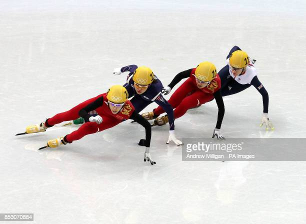 Great Britain's Elise Christie in the Women's 1000m Semi Final at the Iceberg Skating Palace during the 2014 Sochi Olympic Games in Krasnaya Polyana...