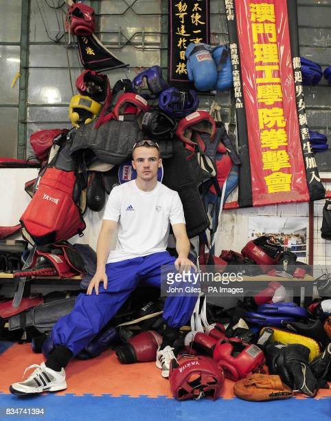 Great Britain's Frankie Gavin at the Fighting Arts Club Macau China