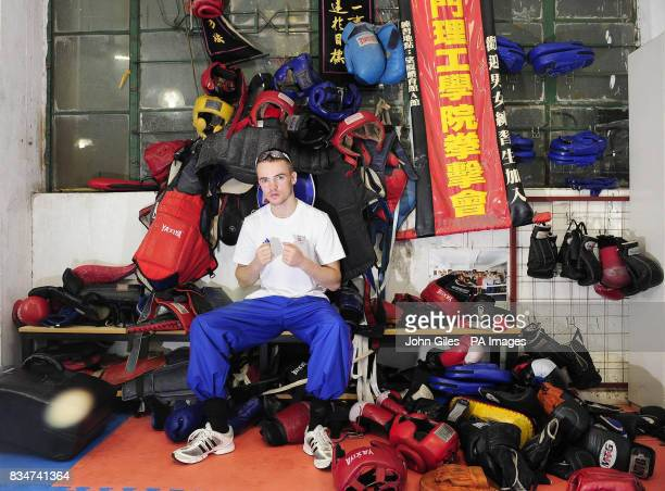Great Britain's Frankie Gavin in the Fighting Arts Club Macau China
