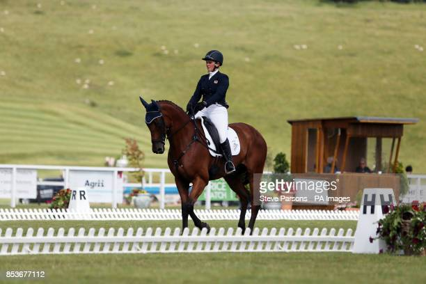 Great Britain's Gemma Tattersall competes on Arctic Soul during day two of the Barbury International Horse Trials in wiltshire