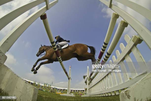 Great Britain's Gemma Tattersall vaults a jump on ARCTIC SOUL during day three of the Barbury International Horse Trials at Barbury Castle Wiltshire
